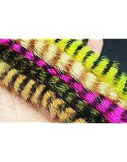5 färger blandade svarta spärrade kanin zonker remsor rakt snitt 4 mm bredd för basöring stålhuvud flugbindande material