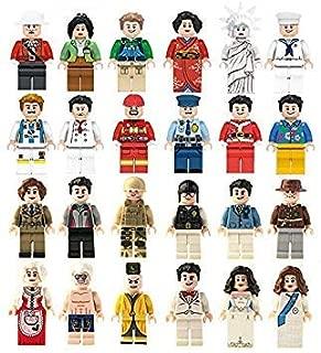 ミニフィグ 大量 24体セット 自由の女神 海賊 コック 和服 アロハシャツ サッカー選手 サンタクロース 工事 結婚 新郎 新婦 軍人 各種 ミニフィギュア