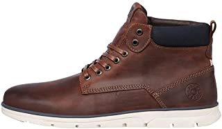 JACK & JONES Jfwtubar Leather Brandy STS, Chukka Boots Homme