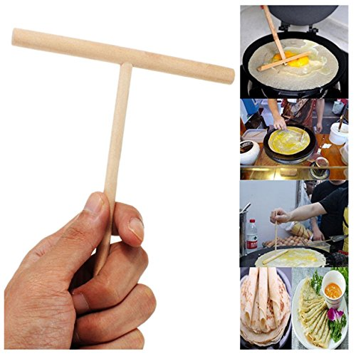 ECYC Chinese Crepe Maker Wooden Pancake Batter Spreader for Home Kitchen