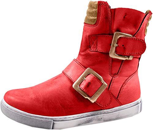 Andrea Conti Damen 0346833 Biker Boots, Rot (Chili/Cognac 644), 38 EU