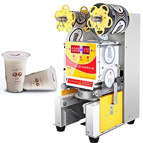 ZLH Máquina De Sellado De Taza Eléctrica 88/90 / 95Mm Máquina De Sellado De Taza Automática Máquina De Sellado De La Taza De Control De Temperatura Adecuado para Hacer Café De Té De Leche,Blanco