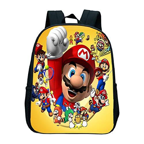 XIFA super mary schoolbags 12 inch cartoon mario backpack children school bags boys girls kindergarten backpack kids toddler bag bookbag