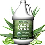 Organic Aloe Vera Gel - 1 Gallon - Made from 100% Pure Aloe Leaf Gel Hydrating Gel Organic Aloe for Healthy Skin, Hair & After Sun Relief - Made from Aloe Vera Gel Straight from the Aloe Plant