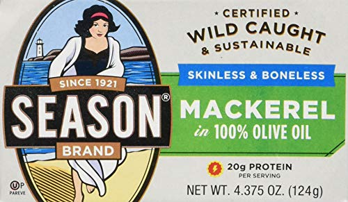 top rated Seasonal mackerel fillet, with olive oil, 4.375 oz can (12 pieces) 2020