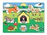 Melissa & Doug- Pets Puzzle in Legno, Multicolore, 9053