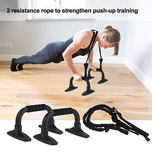 EnterSports Ab Roller Wheel, 6-in-1 Ab Roller Kit with Knee Pad, Resistance Bands, Pad Push Up Bars Handles Grips , Perfect Home Gym Equipment for Men Women Abdominal Exercise