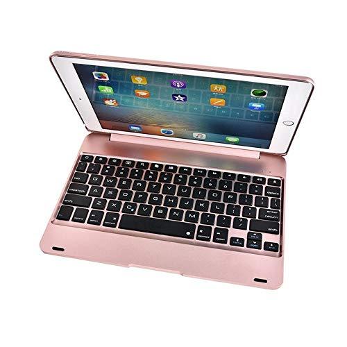 HNKHKJ para iPad Air 2 A1566 A1567 Funda de Teclado inalámbrico Bluetooth para iPad Pro 9.7 2016 A1673 Tablet PC Flip Stand Cover-Rose_Gold