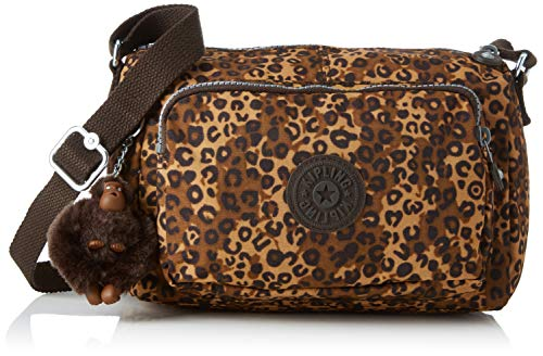 Kipling Damen RETH S Umhängetasche, Mehrfarbig (Mixed Cheetah B), 23x15.5x13.5 cm