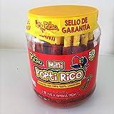 Mexican Candy Tamarind Paste Candy Spicy Sticks Straw Chili Powder Mini Poptirico Vitrolero 50Ct./550g. Dulce de Tamarindo Mexicano Con Chile en Popote con Polvo Delicioso con 50Pieza/550g.