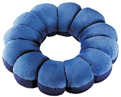 Favourite Pillow Entspannungs und Stützkissen | Ø 33 cm | blau | formstabile Mikro-Polystyrol-Kügelchen