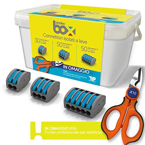 ETelec Kit Promo Bandeja 130 Piezas Spring Box Conectores aislados de palanca...