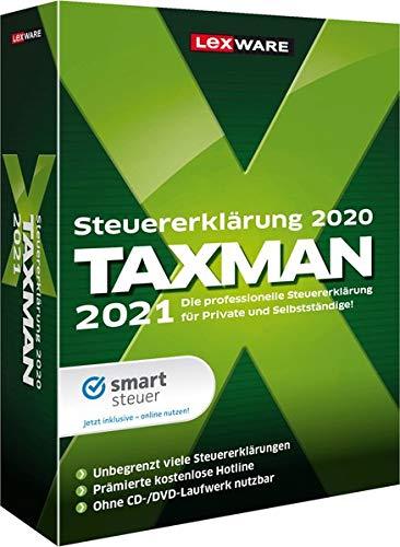 Lexware Taxman 2021 für das Steuerjahr 2020 Minibox Übersichtliche Steuererklärungs-Software für Arbeitnehmer, Familien, Studenten...