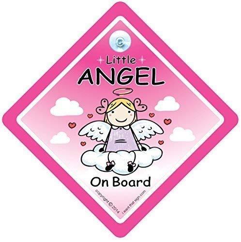Little Angel on Board, panneau bébéà bord, panneau de sécurité pour voiture, Coque, autocollant, Sticker