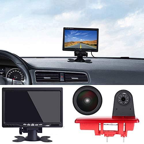 【Super HD Rückfahrkamera Set】 7 Zoll TFT LCD Auto Monitor + 1280 * 720 Pixel Super HD Nachtsicht Rückfahrkamera Ersatz für FIAT Talento/Renault Trafic III/Nissan NV300 Primastar/Opel Vauchall Vivaro