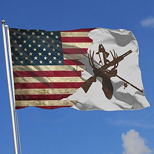 Elaine-Shop Outdoor Flags USA vlag jagen en vissen 4 * 6 ft vlag voor wooncultuur sport fan voetbal basketbal baseball hockey