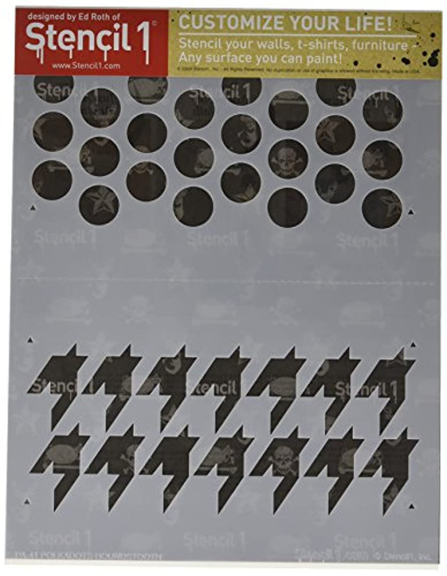 Stencil1 S1_PA_41 Dots/Houndstooth Stencil, 8.5