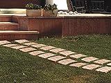 passi da giardino in terracotta (5 pezzi) pavimentazione per esterno - piastrelle stiledeco'; lunghezza cm. 29, larghezza cm. 20, profondita' cm. 2,5.