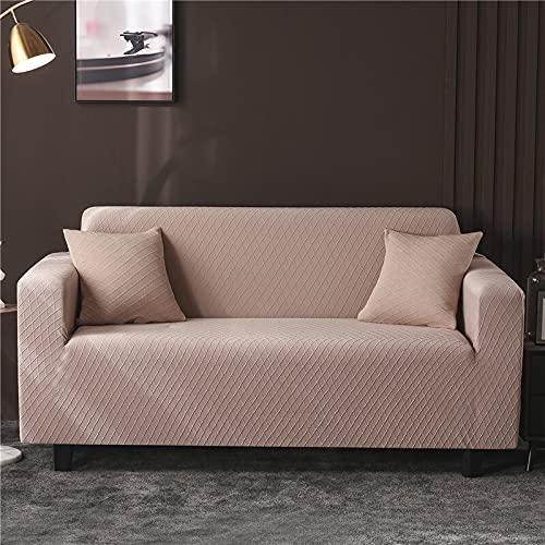 WXQY Funda de sofá Todo Incluido Simple para Sala de Estar Funda de sofá Antideslizante protección para Mascotas Funda de sofá elástica combinación A1 2 plazas