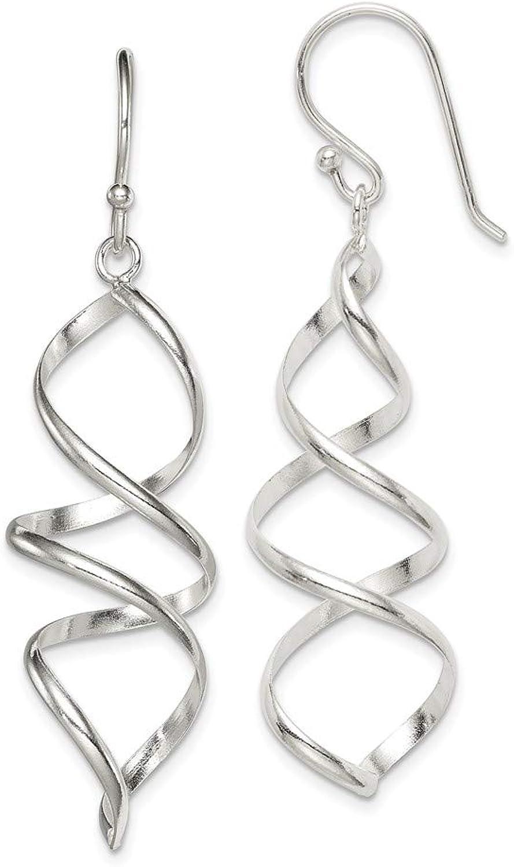 Beautiful Sterling silver 925 sterling Sterling Silver Corkscrew Dangle Earrings
