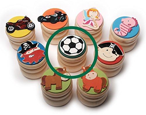 Kleine Zahndose aus Holz - Fußball