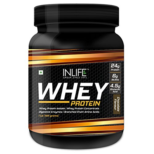 Inlife Whey Protein Powder - 454g (Chocolate Flavour)