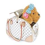 Haustiere aus der Tasche Hund Katzentasche Kaninchen herausnehmen tragbare Tasche Hund Rucksack Pet Pu Reisetasche Koffer Rucksack