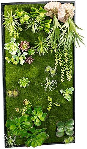 Carlo Milano Pflanzenbilder: Vertikaler Wandgarten Klaus mit Deko-Pflanzen, 50x100 cm (Pflanzenwand)