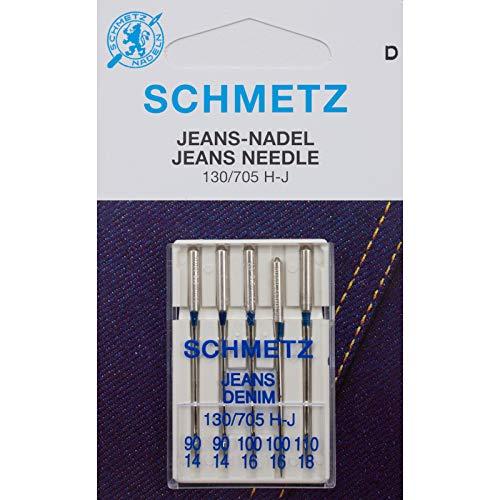SCHMETZ Nähmaschinenadeln für Jeans Denim und schwere Stoffe (H-J 90-110)