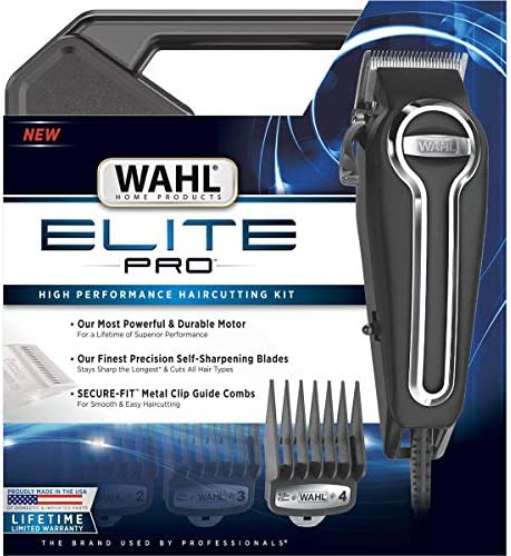 Clipper Elite Pro High Performance Haircut Kit for men with Hair Clippers Secure fit guide combs product image
