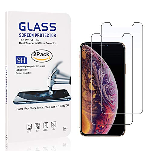 iPhone X//iPhone Xs Screen Protector Lifetime Warranty HD Screen Protector Glass for Apple iPhone X//iPhone Xs 2 Pack Bear Village/® Tempered Glass Screen Protector