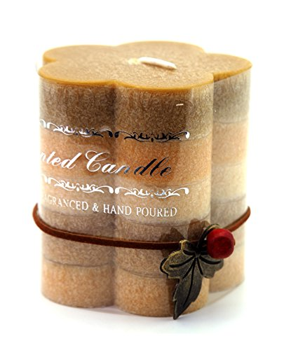 Creationtop Handcrafted Scented Candles Home Decor Aroma Candles (Style 4/Flower Vanilla)