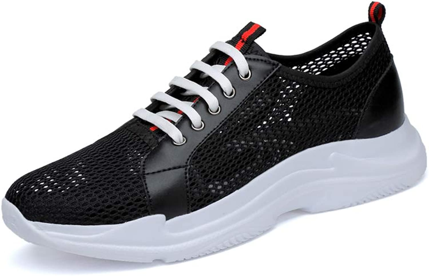 Men's Breathable Mesh shoes Non-slip Low help Casual shoes Outdoor Jogging Sports shoes Lightweight Training shoes,Black,43