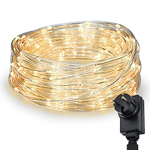 200 LED Schlauch Außen – Lichterschlauch Aussen 10m warmweiß mit Timer | Lichterkette Weihnachtsbeleuchtung wasserdicht | LED Lichtschlauch Außen 10m & Innen | Lichtschläuche Outdoor Leuchtschlauch