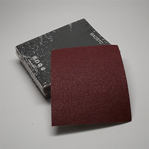 Best Review Of BAOSTC 1/4 sandpaper sheet,4-1/25-1/2 P180,red aluminum oxide 50PACK