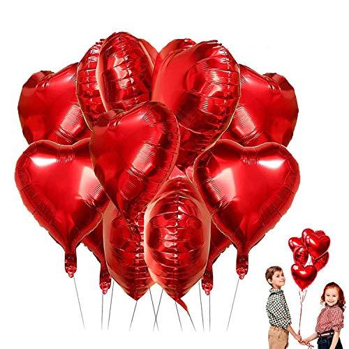 LIZHIGE Palloncini Rosso, Palloncini Elio Cuore Palloncini Cuore Oro Rosa per Compleanno,Addio al Nubilato, Baby Shower, Decorazioni per Matrimoni,San Valentino (25-Pack)