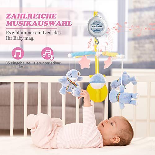 【Neue Version】TopElek Elektrische Baby Spieluhr mit 128 MB Micro-SD-Speicherkarte(Erweiterbar bis 2 GB) für Ihr Babymobile, 12 Melodien inklusive. - 2
