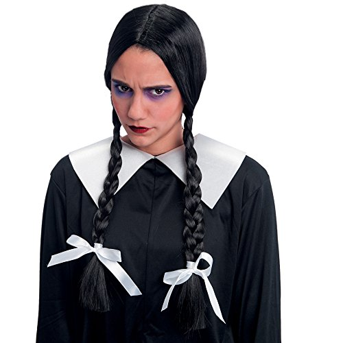 obtener pelucas para disfraces de color negro on line