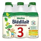 Blédina Bledilait Croissance de 1 à 3 Ans 6 x 1 L