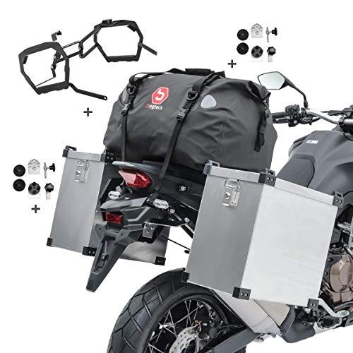 Maletas Laterales Compatible para BMW R 1200 GS/Adventure 13-18 NB80 + Bolsa Trasera