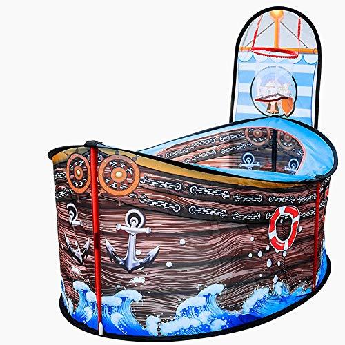 MHBY Carpa, Barco Pirata Grande Carpa para niños casa de Juegos Piscina de Bolas oceánicas Carpa Interior al Aire Libre Patio jardín Regalo para niños Baloncesto Tienda de Juguete para Tiro