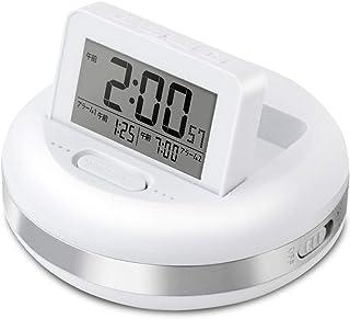 ADESSO(アデッソ) 目覚まし時計 振動式 デジタル ブルブルクラッシュ ダブルアラーム ホワイト MY-106