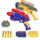 INTMEDIC Blaster Toy Guns for Boy, 2 Set Foam Bullet Toy Dart Gun with 60pc Foam Darts, 12 pc Bowling Ball, 2pc Target for Kids 6 8 10 Year Old Boys Dart Shooting Game Practise