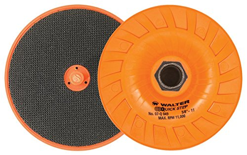 Walter Surface Technologies 07Q049 Quick-Step Backing Pad - Direct Mounted Pad for Grinder Discs. Grinding Wheel Pads