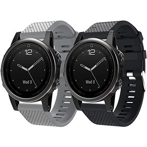 Armband Fenix 5S /Fenix 5S Plus, Uhrenarmband Schnellverschluss Silikon 20mm Ersatzarmband für Fenix 6S/Fenix 6S Pro/Fenix 5S/Fenix 5S Plus/D2 Delta S Smartwatch