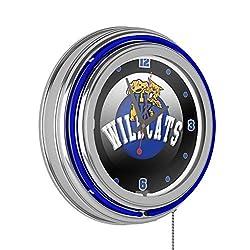 Trademark Gameroom University of Kentucky Wildcats Chrome Double Rung Neon Clock - HC