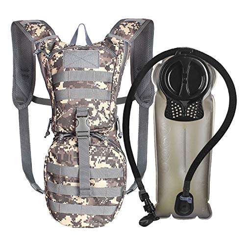 Unigear Tactical Hydration Pack Backpack 900D with 2.5L Bladder for Hiking, Biking, Running, Walking and Climbing (ACU with Upgraded Bladder)