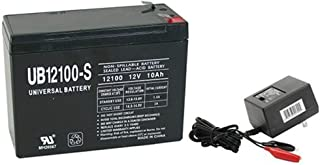 Universal Power Group 12V 10AH Replacement for Bladez Ion 450 Scooter Battery WITH CHARGER