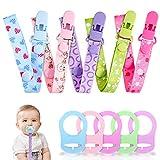 Gnews Schnullerband Baby mit Silikonring für Schnuller Schnullerketten clip Blau für Lätzchen Dreieckstuch Sauger Adapter für Baby Junge Mädchen