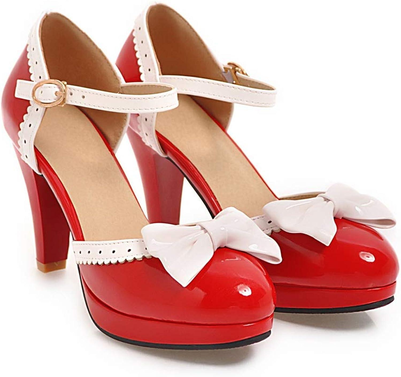 Cloudless Womens Elegant Strappy Bow Platform High Heel Pumps